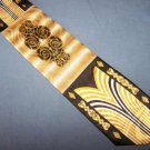 Charles Gabriele Black Gold Bold Power Poly Tie Necktie C12 ~