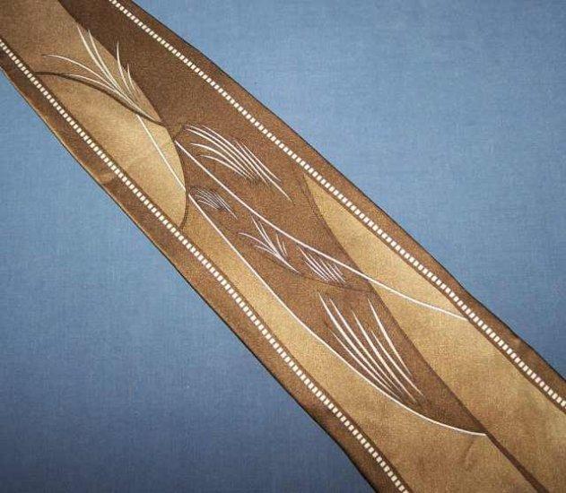 Vittorio Farina Brown Bold Power Tie Necktie C9 ~