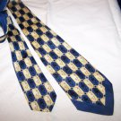 Vintage Silk Tie by Hut 30's 40's Chevron Edge C1 ~