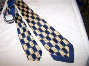 Vintage Silk Tie by Hut 30's 40's Chevron Edge C1 ~