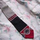 Black Red Bold Power Tie Necktie W79 ~