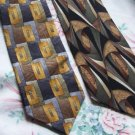 Lot of 2 Cocktail Collection Ties Neckties  W105