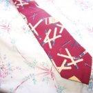 Vintage Silk Cigarette Tie Necktie Tobbacciana Cerruti W68