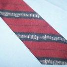 Vintage Pintail Music Tie Necktie Maroon Navy Blue  T56