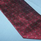Versini Maroon Tie Necktie with Raised Design       T51
