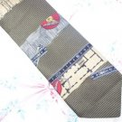 Structure Architect Themed Silk Tie Greens W69