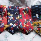 Lot of 4 Mickey Mouse Themed Ties Donald Duck        W73