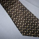 Zylos Gold Black with Gold Squares Tie Necktie    T53