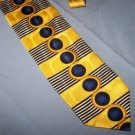 Di moggio Bold Power Tie Necktie   Yellow Blue Dots T64