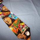 Addiction Baseball Silk Tie Necktie