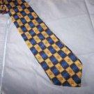 Polifroni Blue Gold Silk Tie Necktie