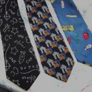 Lot of 3 Teacher Ties Neckties W80