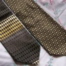 Lot of 2 DiMoggio Brownish Bold Ties Neckties  W102