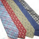 Lot of 5 Bill Blass Ties Neckties W113