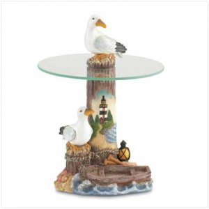 #37546 Seagull Mini-Table with Glass Top