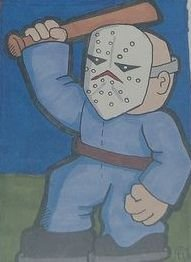 Friday the 13th Jason Vorhees sketch card atc aceo