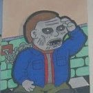 Bub from Day of the Dead sketch card atc aceo