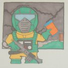 G.I. Joe Airtight sketch card