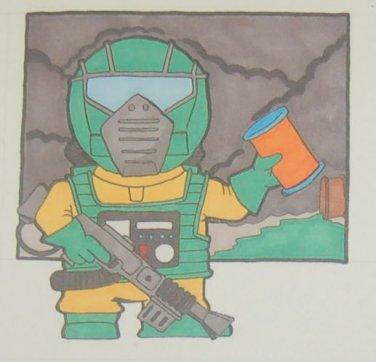G.I. Joe Airtight sketch card