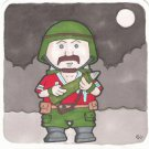 G.I. Joe Bazooka sketch card Square Card