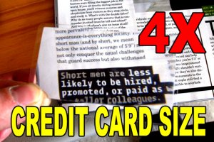 Credit Card Size Portable Magnifying Reading Fresnel Lens