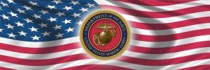 UNITED STATES MARINE & USA FLAG