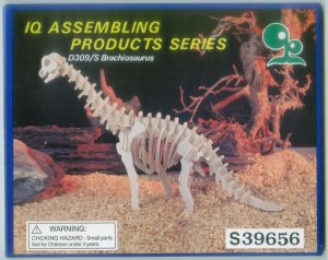 Brachiosaurus Wooden Dinosaur Skeleton Craft Kit Wood Puzzle