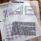Wedding Ring Quilt Pattern, Template, Instructions, 6 & 10 inch 25-patch blocks -uncut unused