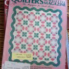 Quilter's Newsletter Apr 1988 Flower Quilts, Heavenly Stars, Surrounded Castle -patterns techniques