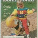 Workbasket September 1989 Back to School: Knit, Crochet, Tat, Stitchery, Crafts, Foods