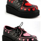 Platform Shoes w/Heart Cutout Design