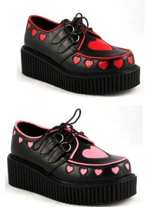 Platform Shoes w/Heart Cutout Design