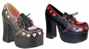 D-Ring Lace Up Chunk Heel