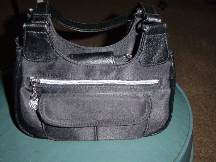 Women's Black Handbag Silver Decorations #900022