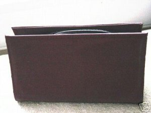 Wine Micro Suede Hugo Clutch Cosmetic Bag #900041