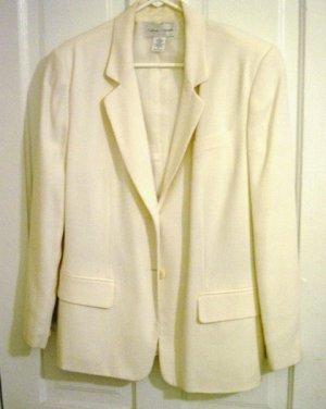Woman's Casual Corner Cream Blazer Jacket Size 14 #900181