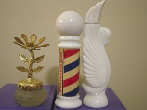 Set of Three Avon Glass Refillable Perfume Bottles #900206