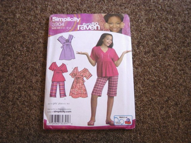 Simplicity 3904 That's So Raven Pattern Girls' Plus 8 1/2-16 1/2  #900444