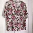 Christie & Jill Floral Summer Woman's Top Blouse Size 16M  #900449