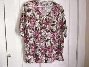 Christie & Jill Floral Summer Woman's Top Blouse Size 16M  #900449