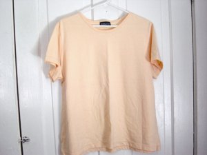 Land's End Golden Yellow Peach Summer Woman's Top Blouse Size L  #900451
