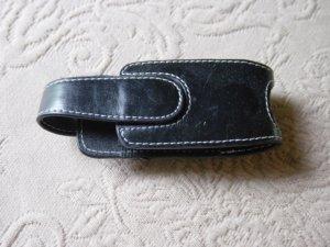 Black Leather or Vinyl Cell Phone Holder Magnetic Closure Belt Hook #900493