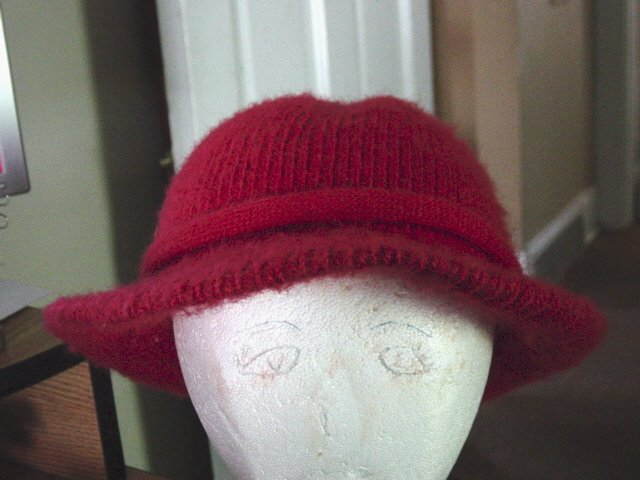 Vintage Aris Red Woman's Knit Hat #900501