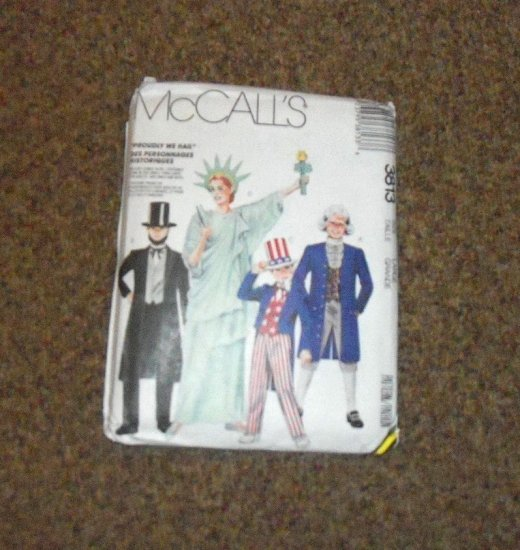 McCall's 3813 Proudly We Hail Costume Pattern Size Large #900542