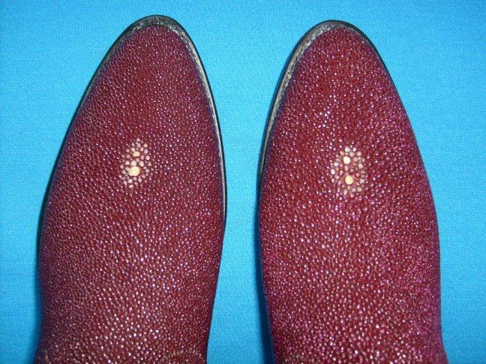 DAN POST Burgundy STINGRAY New Cowboy Boots Men's 9 EW Free Shipping