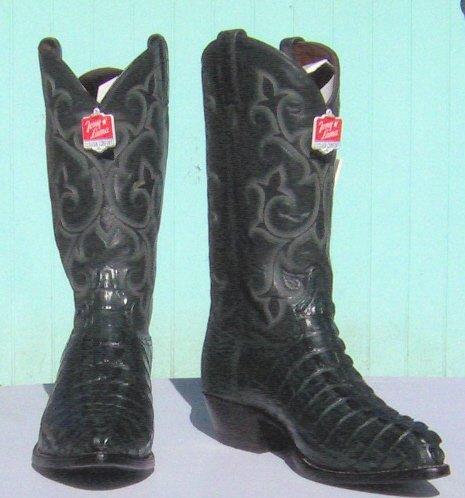 NEW TONY LAMA Cyprus HB GATOR Tails Cowboy Boot Men's 12 D Free Shipping