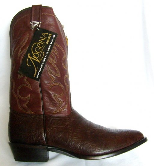 NOCONA Chocolate BULLHIDE NEW Cowboy Boot Men's 13 D Free Shipping