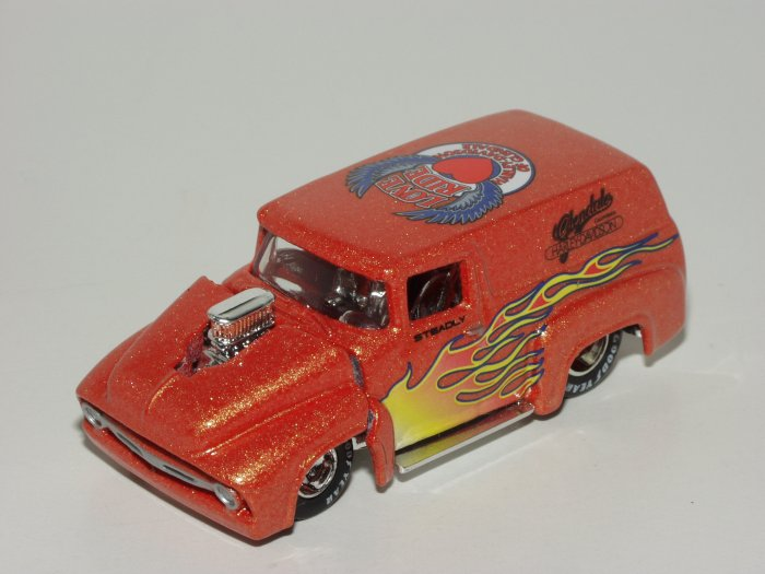 Hot wheels 2002 Glendale Harley Love Ride '56 Ford 1/64 Scale Loose
