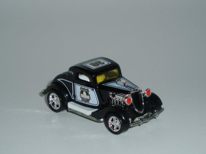 Hot Wheels K-B Toys Cop Rods Series 1 3-Window '34 1/64 Scale Loose