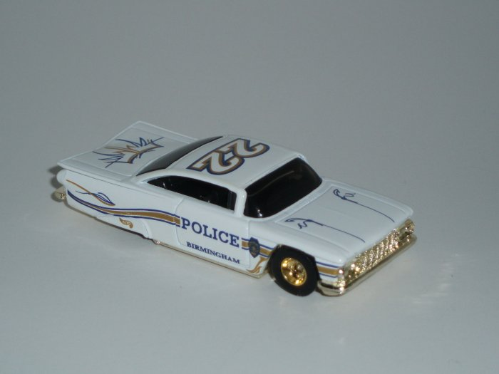Hot Wheels K-B Toys Cop Rods Series 1 '59 Impala White 1/64 Scale Loose